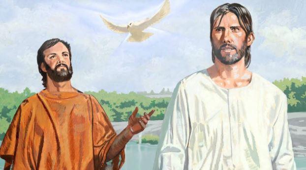 Yo a la verdad os bautizo en agua para el arrepentimiento, pero el que viene tras mí, cuyo calzado yo no soy digno de llevar, es más poderoso que yo; él os bautizara en Espíritu Santo y fuego