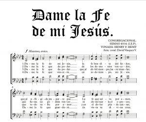 DAME LA FE DE MI JESÚS.