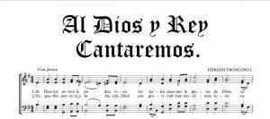 Al Dios y Rey cantaremos, 🎹 Porque (siempre) somos su pueblo; No hay (no hay) otro Dios que sea igual. Envió (su don) a salvarnos; ✅ partitura coral aqui