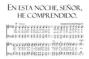 EN ESTA NOCHE SEÑOR, HE COMPRENDIDO