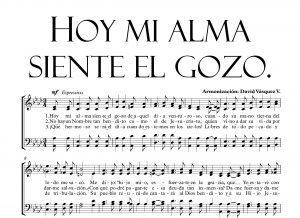 HOY MI ALMA SIENTE EL GOZO