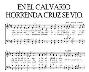EN EL CALVARIO HORRENDA CRUZ