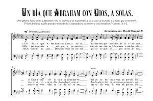 UN DÍA QUE ABRAHAM CON DIOS, A SOLAS.