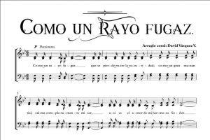 COMO UN RAYO FUGAZ.