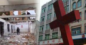 China destruye iglesias aprovechando que cristianos están en sus casas
