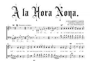 A LA HORA NONA.