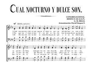 CUAL NOCTURNO Y DULCE SON.