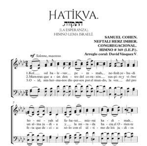 HATIKVA La esperanza himno Israeli